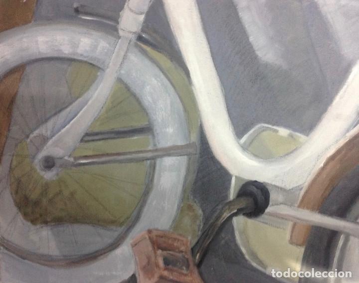 ABSTRACTO BICICLETA. PINTURA SOBRE LIENZO. 50 X 60 CM. (Arte - Pintura - Pintura al Óleo Contemporánea )