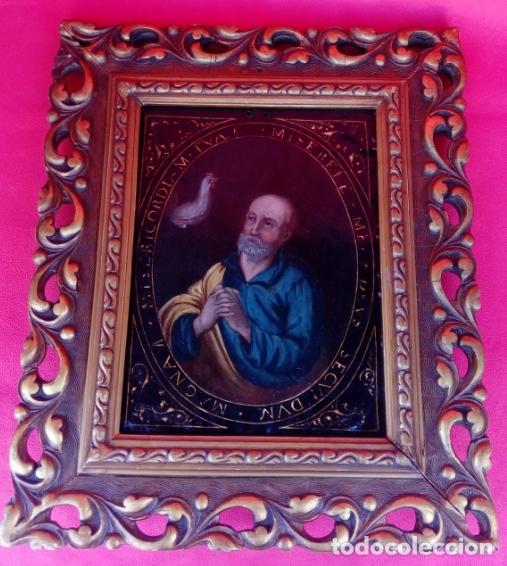 Arte: ÓLEO S/COBRE -LA NEGACIÓN DE SAN PEDRO-. ESCUELA ESPAÑOLA SIGLO XVII. DIMENSIONES.- 35X29,5 CMS - Foto 4 - 174994315