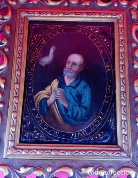 Arte: ÓLEO S/COBRE -LA NEGACIÓN DE SAN PEDRO-. ESCUELA ESPAÑOLA SIGLO XVII. DIMENSIONES.- 35X29,5 CMS - Foto 5 - 174994315