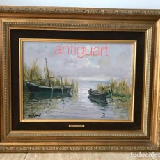 """Arte: FRANCISCO ARNEDO LINARES, PINTOR VALENCIANO, 1925-2011. ÓLEO SOBRE TABLEX. """"ALBUFERA"""". Lote 175022173"""