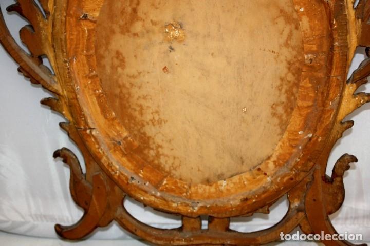 Arte: LA SAGRADA FAMILIA PINTADA BAJO VIDRIO DEL SIGLO XVIII CON CORNUCOPIA ORIGINAL - Foto 18 - 175047027