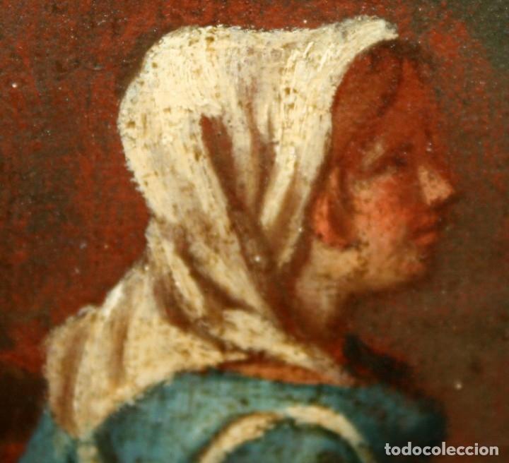 Arte: ESCUELA ITALIANA DE LA 2ª MITAD DEL SIGLO XVIII. OLEO SOBRE TELA. ESCENA CAMPESTRE - Foto 4 - 175047699