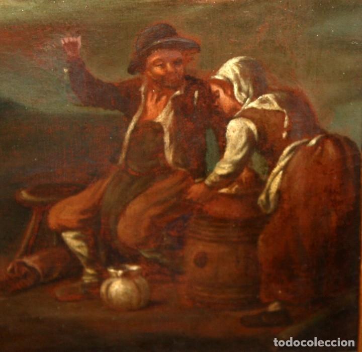 Arte: ESCUELA ITALIANA DE LA 2ª MITAD DEL SIGLO XVIII. OLEO SOBRE TELA. ESCENA CAMPESTRE - Foto 5 - 175047699