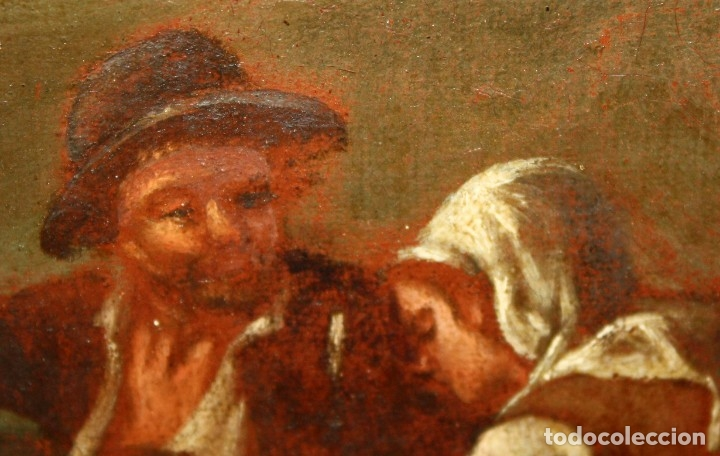 Arte: ESCUELA ITALIANA DE LA 2ª MITAD DEL SIGLO XVIII. OLEO SOBRE TELA. ESCENA CAMPESTRE - Foto 6 - 175047699