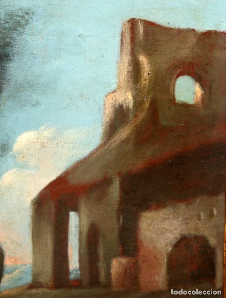 Arte: ESCUELA ITALIANA DE LA 2ª MITAD DEL SIGLO XVIII. OLEO SOBRE TELA. ESCENA CAMPESTRE - Foto 7 - 175047699