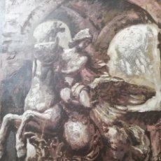 Arte: OLEO DE PEGASUS.. FIRMADO.. 60 POR 50 CM SOLO LA OBRA.. IMPRESIONANTE. Lote 175087345