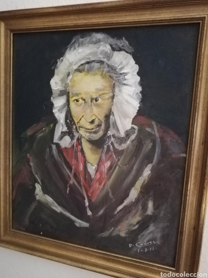 Arte: Oleo del Gran pintor Mexicano Cedres.. Famosos por los rostros con rasgos muy peculiar... - Foto 2 - 175087610
