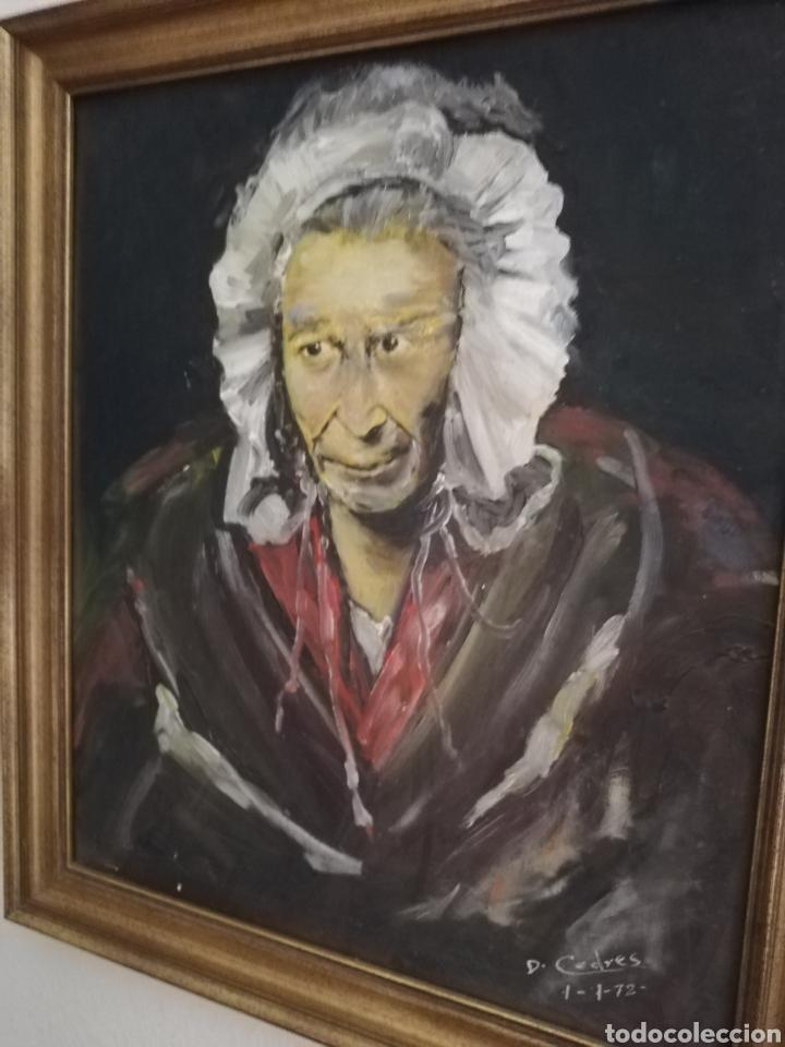 OLEO DEL GRAN PINTOR MEXICANO CEDRES.. FAMOSOS POR LOS ROSTROS CON RASGOS MUY PECULIAR... (Arte - Pintura - Pintura al Óleo Contemporánea )