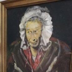 Arte: OLEO DEL GRAN PINTOR MEXICANO CEDRES.. FAMOSOS POR LOS ROSTROS CON RASGOS MUY PECULIAR.... Lote 175087610