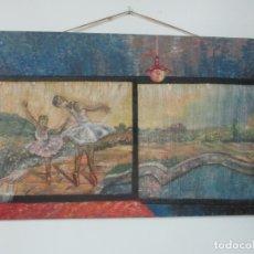 Arte: PRECIOSO MURAL - PINTURA SOBRE TABLEX - LLUIS PLANELLS, PINTOR PAISAJISTA DE BANYOLES - AÑO 1960. Lote 175134079
