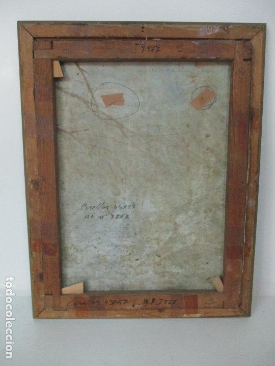 Arte: Bonita Pintura al Óleo sobre Tela - Firma O. Casellas - Figura - Año 1920 - Foto 11 - 175136709
