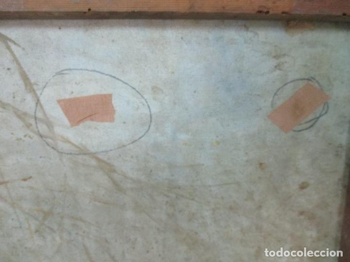 Arte: Bonita Pintura al Óleo sobre Tela - Firma O. Casellas - Figura - Año 1920 - Foto 12 - 175136709