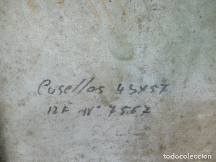 Arte: Bonita Pintura al Óleo sobre Tela - Firma O. Casellas - Figura - Año 1920 - Foto 13 - 175136709