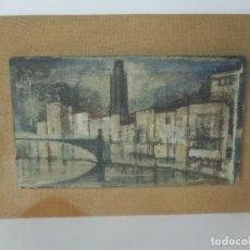 Arte: BONITA PINTURA AL ÓLEO SOBRE TELA - FIRMA M. HUERTAS - GIRONA - AÑO 1966. Lote 175139849