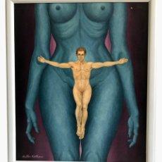 Arte: OLEO SOBRE LIENZO, WALTER KETHERO, CERTIFICADO AUTENTICIDAD, TITULADO: POR SU CULPA. Lote 175140123