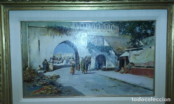 OLEO DE JOSE NAVARRO LLORENS, ORIENTALISTA (Arte - Pintura - Pintura al Óleo Moderna siglo XIX)