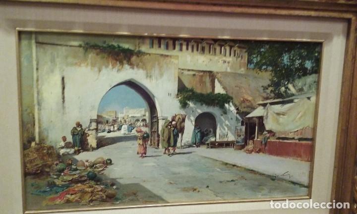 Arte: oleo de Jose Navarro Llorens, orientalista - Foto 2 - 175185424