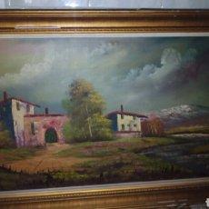 Arte: CUADRO OLEO SOBRE LIENZO 113 X 64 CM, FIRMADO.. Lote 175221947