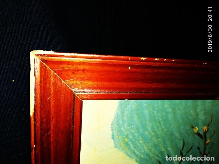 Arte: ÓLEO SOBRE TABLA FIRMADO GUILLEM ? GUILLEN ? ANTIGUO PAISAJE CAMPO CASA ESCENA CAMPESTRE - Foto 6 - 175226713
