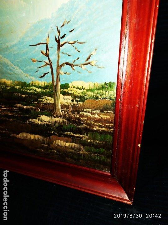 Arte: ÓLEO SOBRE TABLA FIRMADO GUILLEM ? GUILLEN ? ANTIGUO PAISAJE CAMPO CASA ESCENA CAMPESTRE - Foto 7 - 175226713