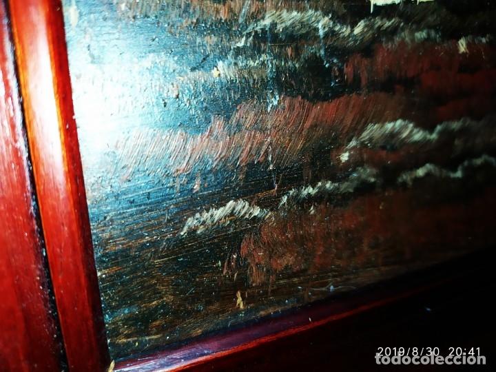 Arte: ÓLEO SOBRE TABLA FIRMADO GUILLEM ? GUILLEN ? ANTIGUO PAISAJE CAMPO CASA ESCENA CAMPESTRE - Foto 10 - 175226713