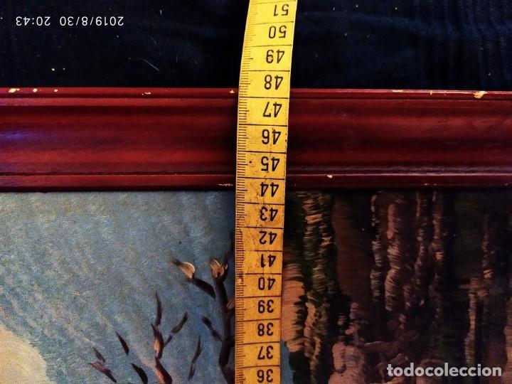 Arte: ÓLEO SOBRE TABLA FIRMADO GUILLEM ? GUILLEN ? ANTIGUO PAISAJE CAMPO CASA ESCENA CAMPESTRE - Foto 19 - 175226713