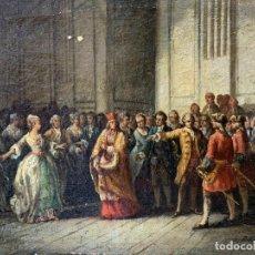 Arte: ESCUELA FRANCESA. PINTURA AL ÓLEO FIRMADA SOBRE LIENZO. Lote 175237743