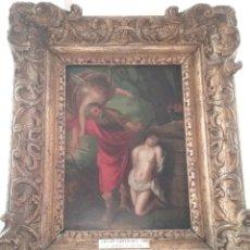 Arte: CUADRO ANÓNIMO ESCUELA HOLANDESA S XVIII, EL SACRIFICIO DE ABRAHAM ÓLEO SOBRE TABLA.. Lote 175261974