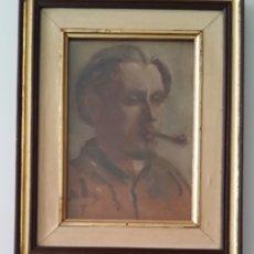 Arte: A. CREICHE: RETRATO DE HOMBRE CON PIPA, ÓLEO, FIRMADO Y DATADO.. Lote 175329157