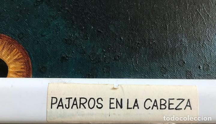 Arte: OLEO SOBRE LIENZO.PÁJAROS EN LA CABEZA. FIRMA WALTER KETHERO, CERTIFICADO AUTENTICIDAD - Foto 3 - 175391272