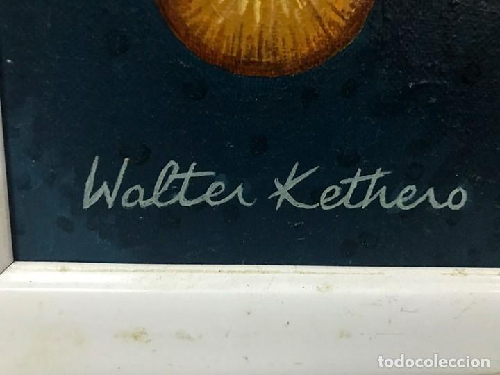 Arte: OLEO SOBRE LIENZO.PÁJAROS EN LA CABEZA. FIRMA WALTER KETHERO, CERTIFICADO AUTENTICIDAD - Foto 4 - 175391272