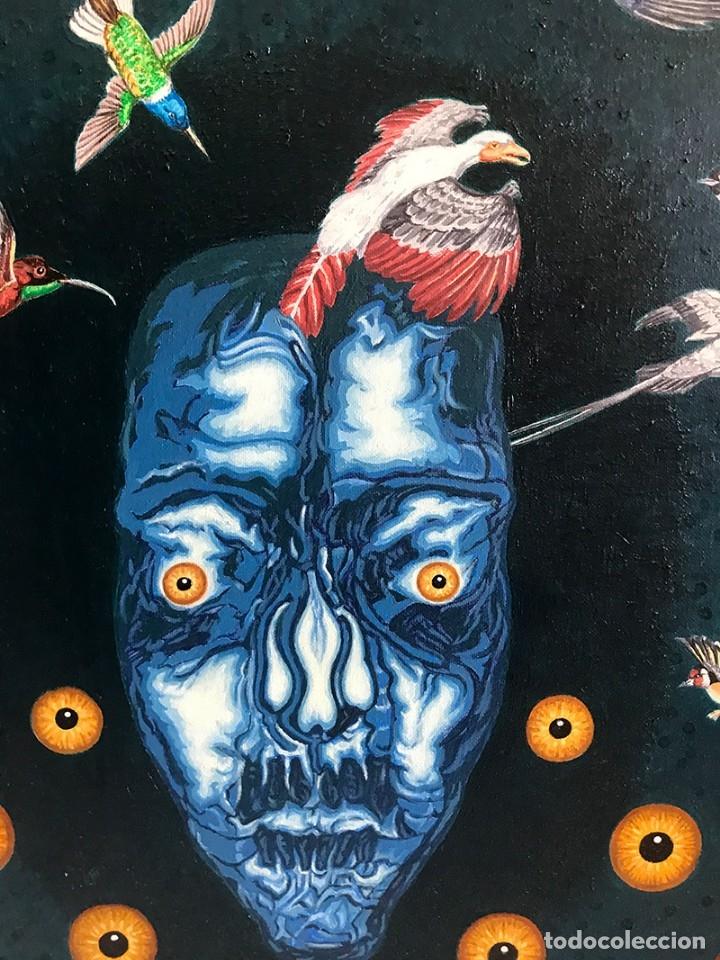 Arte: OLEO SOBRE LIENZO.PÁJAROS EN LA CABEZA. FIRMA WALTER KETHERO, CERTIFICADO AUTENTICIDAD - Foto 5 - 175391272