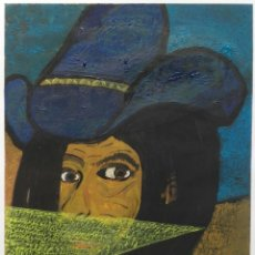 Arte: ANTONI MARTÍ (SEUDÓNIMO. CASSERRES, 1.960) - ÓLEO SOBRE PAPEL 30 X 21. Lote 175433134