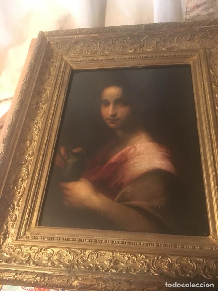 Arte: Oleo lienzo Santa Maria Magdalena. Seguidor de Domenico Puligo - Foto 4 - 175447432