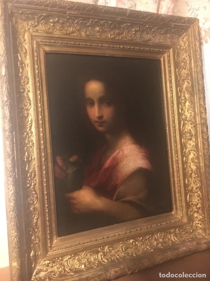 Arte: Oleo lienzo Santa Maria Magdalena. Seguidor de Domenico Puligo - Foto 5 - 175447432
