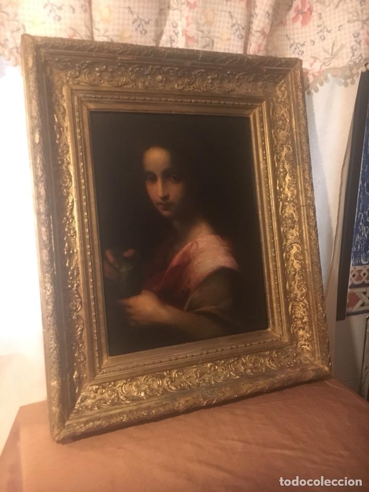 Arte: Oleo lienzo Santa Maria Magdalena. Seguidor de Domenico Puligo - Foto 6 - 175447432