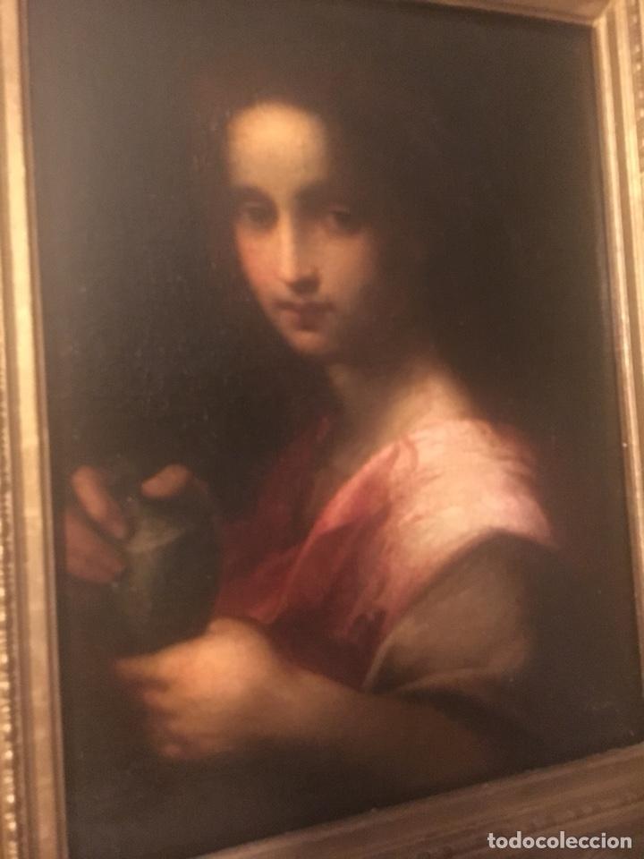 Arte: Oleo lienzo Santa Maria Magdalena. Seguidor de Domenico Puligo - Foto 3 - 175447432