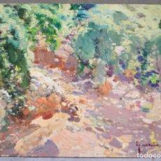 Arte: IGNACIO GIL (1913 - 2003), PAISAJE, PINTURA AL ÓLEO SOBRE TÁBLEX. 33X24CM. Lote 175502108