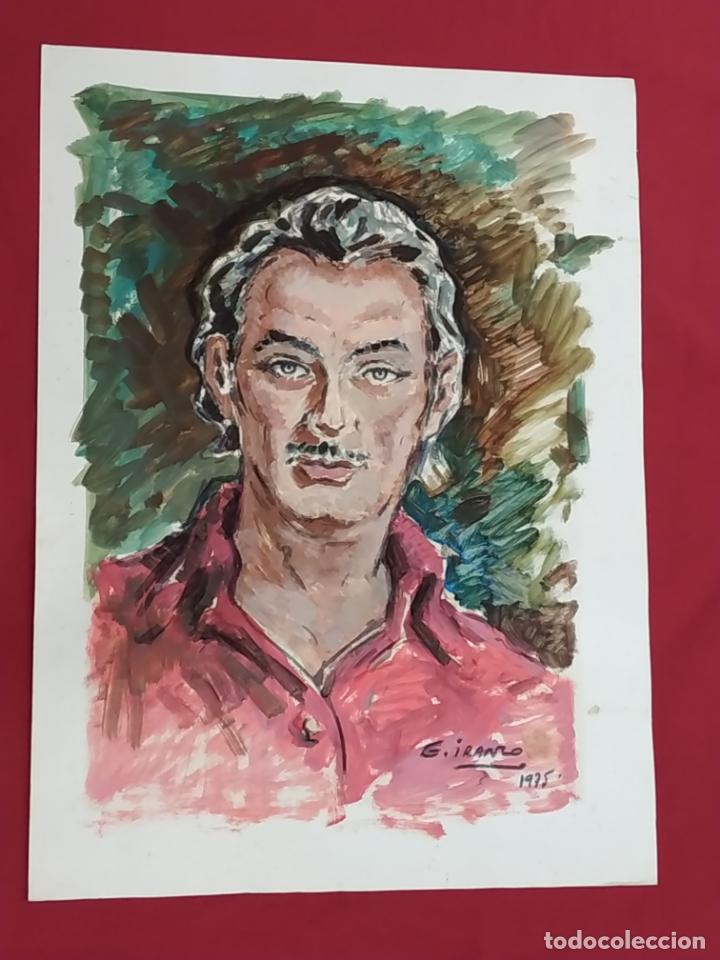 JUAN GARCIA IRANZO - DIBUJO AL OLEO FIRMADO - 1975 - (Arte - Pintura - Pintura al Óleo Moderna sin fecha definida)