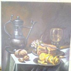 Arte: JOLOGA. MESA CON BODEGÓN. LIENZO 81X65.. Lote 174474197