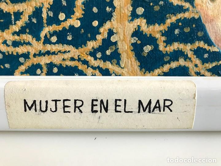 Arte: OLEO SOBRE LIENZO. MUJER EN EL MAR. FIRMA WALTER KETHERO, CERTIFICADO AUTENTICIDAD - Foto 3 - 175581264