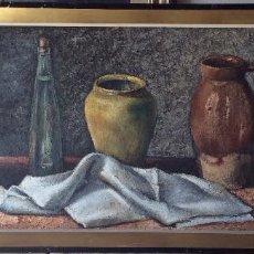 Arte: LAPUERTA JESÚS ( ZARAGOZA )BODEGÓN FIRMADO ,100X42 CM. Lote 175597284