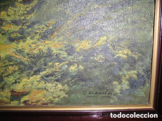 Arte: ÓLEO SOBRE LIENZO ,PAISAJE MONTAÑES ,FIRMADO CARRETERO - Foto 2 - 175597845