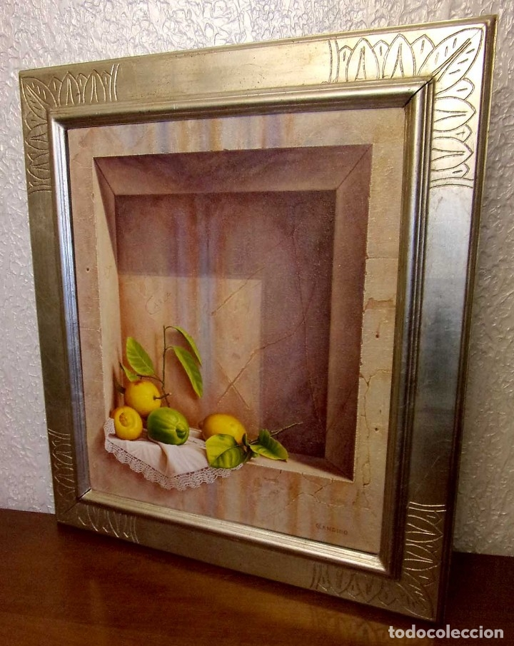Arte: OLEO. BODEGÓN. CÁNDIDO PÉREZ PALMA. AÑO: 1999. BURGOS. - Foto 2 - 175607973