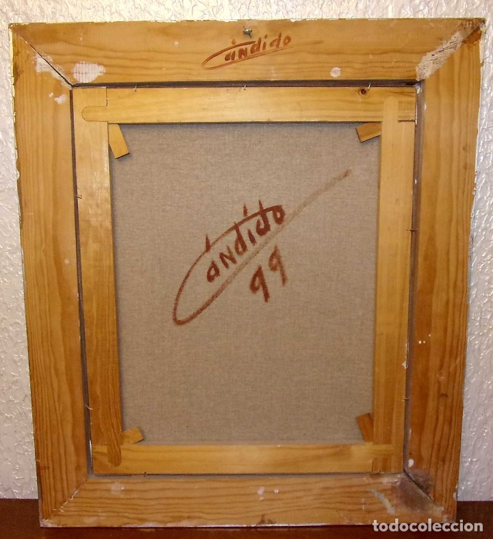 Arte: OLEO. BODEGÓN. CÁNDIDO PÉREZ PALMA. AÑO: 1999. BURGOS. - Foto 5 - 175607973