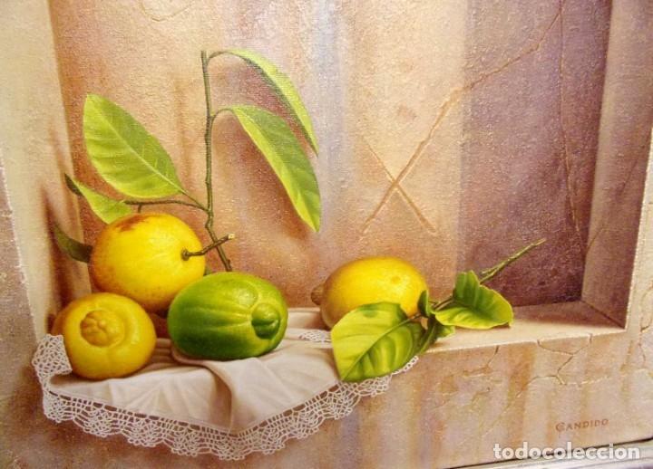OLEO. BODEGÓN. CÁNDIDO PÉREZ PALMA. AÑO: 1999. BURGOS. (Arte - Pintura - Pintura al Óleo Antigua sin fecha definida)
