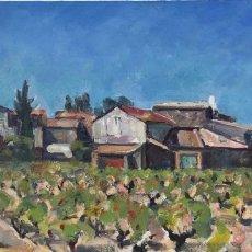 Arte: RAFAEL DURAN BENET (1931-2015) - PAISAJE CATALÁN CON PUEBLO - ÓLEO. Lote 175619270