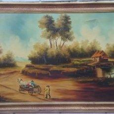 Arte: PAISAJE CONSTUMBRISTA. Lote 175665370