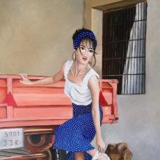 Arte: EN EL CAMPO-ÓLEO PINTADO POR INMA ESCRICH. Lote 175668633