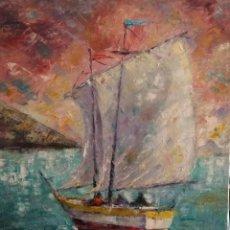 Arte: PINTURA AL ÓLEO.MOTIVO MARINO.. Lote 164828418